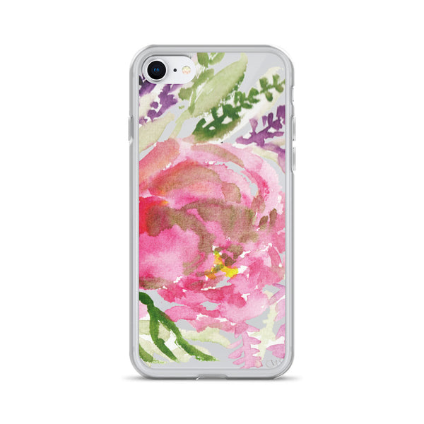 Light Pink Rose Flower Girlie Floral Print, iPhone Cellphone Phone Case- Made in USA-Phone Case-iPhone 7/8-Heidi Kimura Art LLC