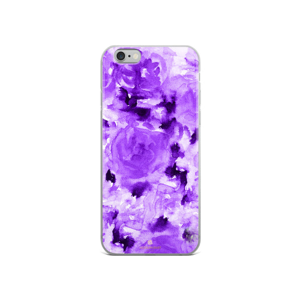 Royal Purple Rose Floral, iPhone X | XS | XR | XS Max | 8 | 8+ | 7| 7+ |6/6S | 6+/6S+ Case- Made in USA-Phone Case-iPhone 6/6s-Heidi Kimura Art LLC