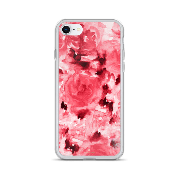 Ruby Red Rose Floral, iPhone X | XS | XR | XS Max | 8 | 8+ | 7| 7+ |6/6S | 6+/6S+ Case- Made in USA-Phone Case-iPhone 7/8-Heidi Kimura Art LLC
