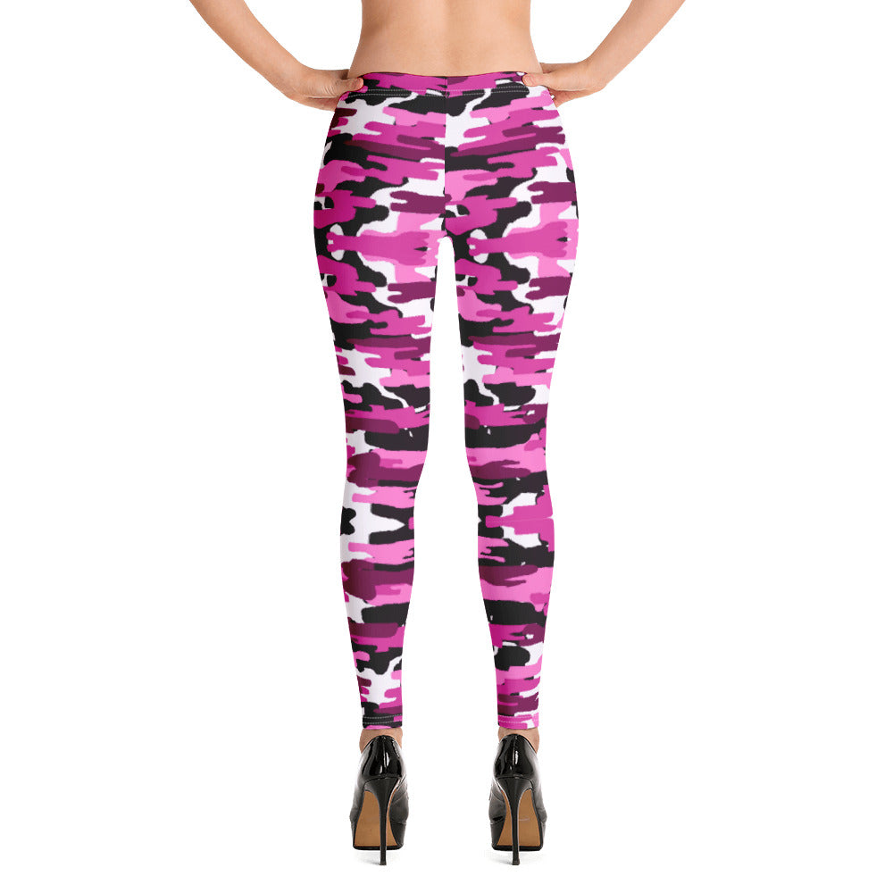 Best Ladies' Pink Camo Leggings, Purple Pink Sexy Military Print Casual Tights-Heidikimurart Limited -XS-Heidi Kimura Art LLC Best Ladies' Pink Camo Leggings, Purple Pink Sexy Best Military Print Long Tights, Women's Long Dressy Casual Fashion Leggings/ Running Tights - Made in USA/ EU/ MX (US Size: XS-XL)