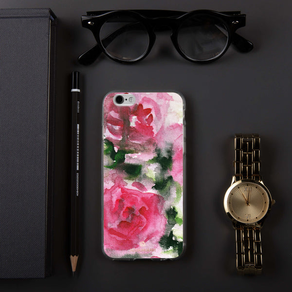 Spring French Pink Princess Rose Floral Print Girlie Cute iPhone Case - Made in USA-Phone Case-iPhone 6/6s-Heidi Kimura Art LLC