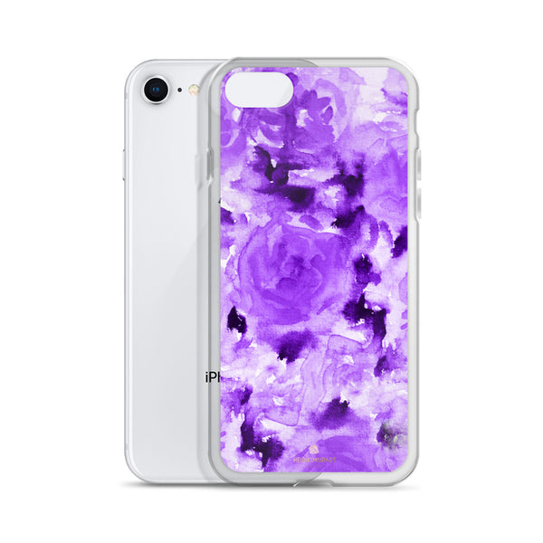 Royal Purple Rose Floral, iPhone X | XS | XR | XS Max | 8 | 8+ | 7| 7+ |6/6S | 6+/6S+ Case- Made in USA-Phone Case-Heidi Kimura Art LLC
