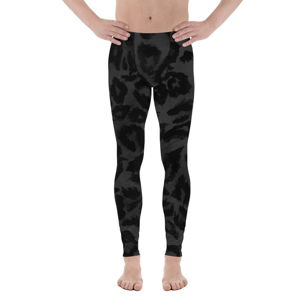 Hiromichi Grey Leopard Print Men's Yoga Pants Running Leggings & Fetish Tights- Made in USA/ Europe (Size: XS-3XL), Leopard Print Leggings Hiromichi Grey Leopard Print Men's Yoga Pants Running Leggings & Fetish Tights- Made in USA/ Europe (Size: XS-3XL) Leopard Print Leggings Meggings Mens Hot Pants, Gay Yoga Wear, Gay Sexy Clothing, Gay Leggings, Sexy Mens Hot Pants, Gay Yoga Wear Hiromichi Grey Leopard Print Men's Yoga Pants Running Leggings & Fetish Tights- Made in USA/ Europe