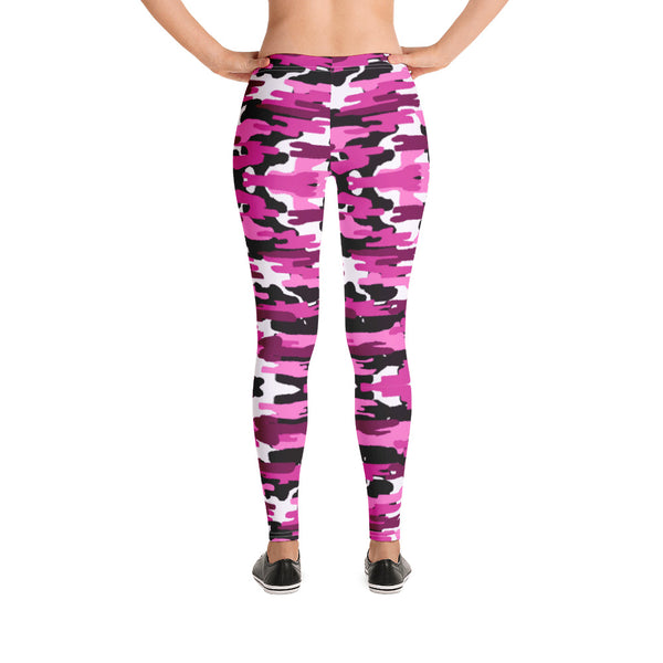 Best Ladies' Pink Camo Leggings, Purple Pink Sexy Military Print Casual Tights-Heidikimurart Limited -Heidi Kimura Art LLC Best Ladies' Pink Camo Leggings, Purple Pink Sexy Best Military Print Long Tights, Women's Long Dressy Casual Fashion Leggings/ Running Tights - Made in USA/ EU/ MX (US Size: XS-XL)