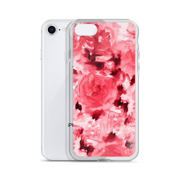 Ruby Red Rose Floral, iPhone X | XS | XR | XS Max | 8 | 8+ | 7| 7+ |6/6S | 6+/6S+ Case- Made in USA-Phone Case-Heidi Kimura Art LLC