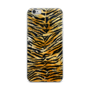 Faux Tiger Stripe Print, iPhone X | 8 | 8+ | 7| 7+ |6/6S | 6+/6S+ Case- Made in USA/Europe-Phone Case-iPhone 6 Plus/6s Plus-Heidi Kimura Art LLC