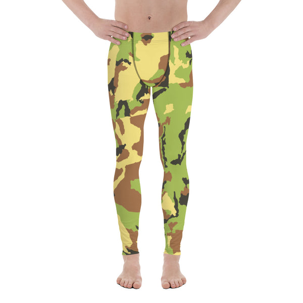 7d93959c2aba8 Odai Green Camo Camouflage Military Army Abstract Print Sexy Meggings Men's  Workout Gym Tights Leggings-