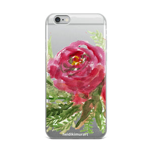 Delightful Sweet Success, iPhone X | XS | XR | XS Max | 8 | 8+ | 7| 7+ |6/6S | 6+/6S+ Case- Made in USA-Phone Cases-iPhone 6 Plus/6s Plus-Heidi Kimura Art LLC Red Rose Floral Phone Case, Delightful Sweet Success Watercolor Floral Red Rose Print, iPhone X | XS | XR | XS Max | 8 | 8+ | 7| 7+ |6/6S | 6+/6S+ Case- Made in USA