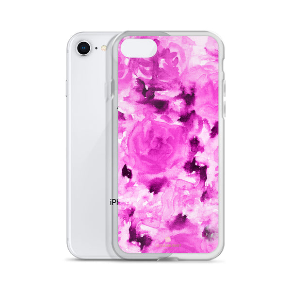 Candy Pink Rose Floral, iPhone X | 8 | 8+ | 7| 7+ |6/6S | 6+/6S+ Case- Made in USA-Phone Case-Heidi Kimura Art LLC