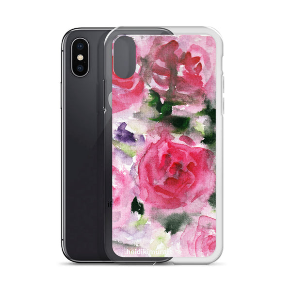 Pink French Rose Bouquet, iPhone X | XS | XR | XS Max | 8 | 8+ | 7| 7+ |6/6S | 6+/6S+ Case- Made in USA-Phone Cases-Heidi Kimura Art LLC