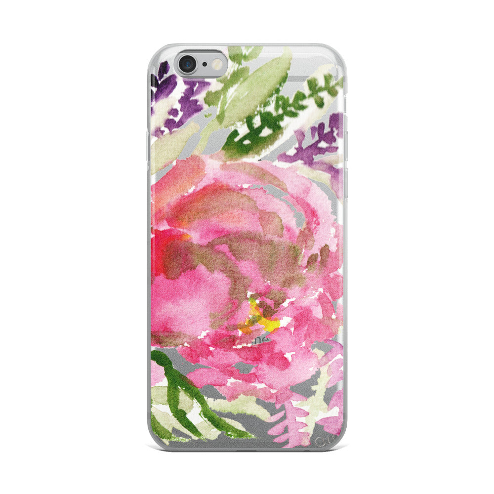 Light Pink Rose Flower Girlie Floral Print, iPhone Cellphone Phone Case- Made in USA-Phone Case-iPhone 6 Plus/6s Plus-Heidi Kimura Art LLC