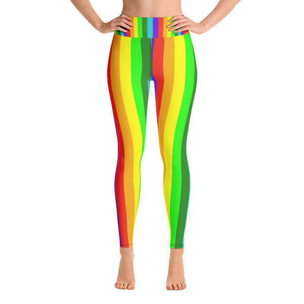 44b69b6b17501c Misha Womens Rainbow Gay Pride Parade Costume Active Fitted Leggings Sports  Yoga Pants - Made in