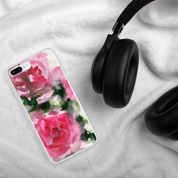 Spring French Pink Princess Rose Floral Print Girlie Cute iPhone Case - Made in USA-Phone Case-Heidi Kimura Art LLC