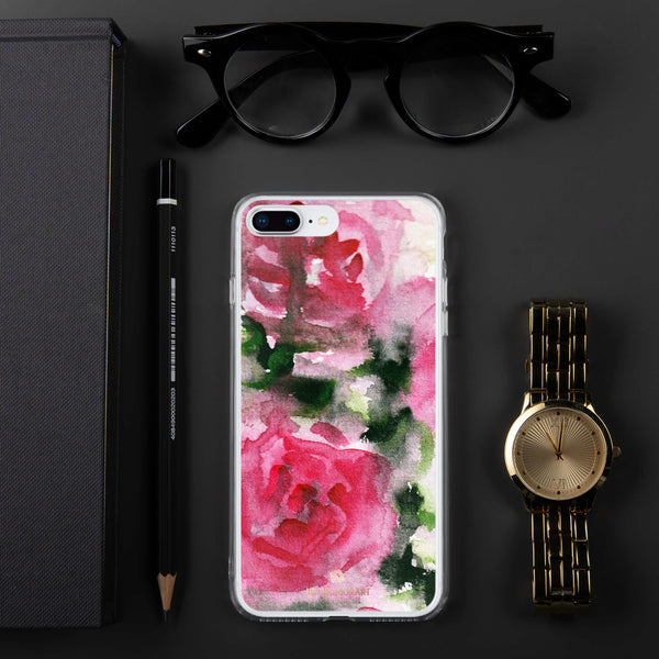 Spring French Pink Princess Rose Floral Print Girlie Cute iPhone Case - Made in USA-Phone Case-iPhone 7 Plus/8 Plus-Heidi Kimura Art LLC