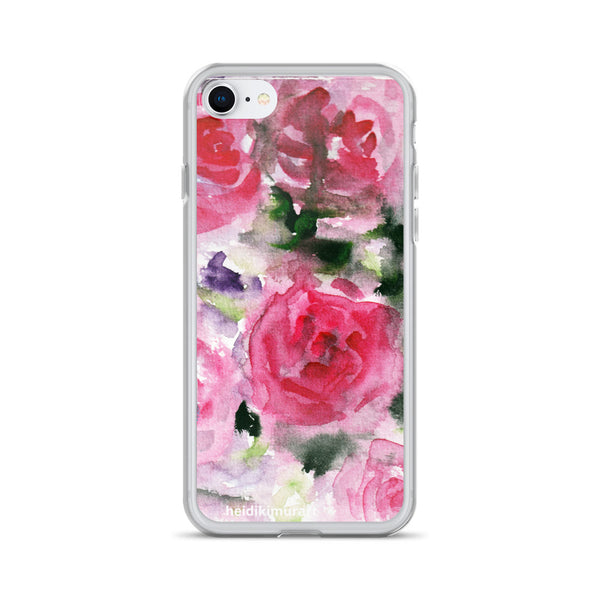 Pink French Rose Bouquet, iPhone X | XS | XR | XS Max | 8 | 8+ | 7| 7+ |6/6S | 6+/6S+ Case- Made in USA-Phone Cases-iPhone 7/8-Heidi Kimura Art LLC