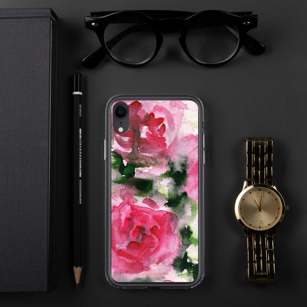 Spring French Pink Princess Rose Floral Print Girlie Cute iPhone Case - Made in USA-Phone Case-iPhone XR-Heidi Kimura Art LLC
