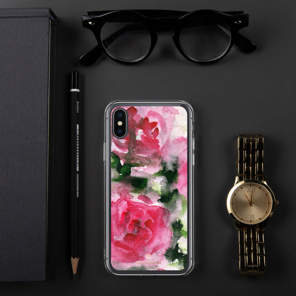 Spring French Pink Princess Rose Floral Print Girlie Cute iPhone Case - Made in USA-Phone Case-iPhone X/XS-Heidi Kimura Art LLC