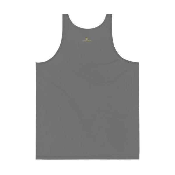 Gray Unisex Tank Top, Dark Gray Solid Color Print Stylish Premium Quality Gay Friendly Men's or Women's Unisex Tank Top - Made in USA/ Europe (US Size: XS-2XL) Dark Gray Solid Color Print Premium Unisex Gay Friendly Tank Top - Made in USA-Men's Tank Top-Heidi Kimura Art LLC