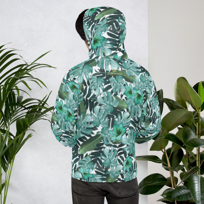 Floral Branch Tropical Hoodies for Men Pullover Hooded Shirts