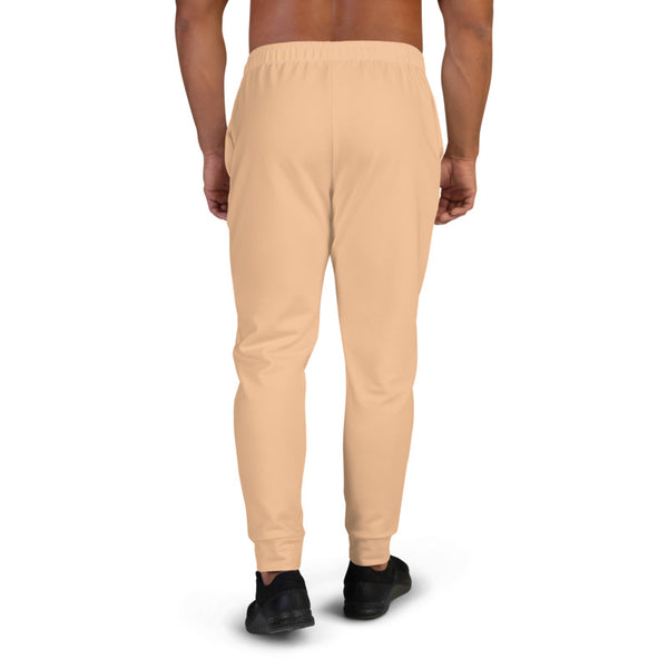 Beige Nude Men's Joggers, Solid Color Sweatpants For Men, Modern Slim-Fit Designer Ultra Soft & Comfortable Men's Joggers, Men's Jogger Pants-Made in EU/MX (US Size: XS-3XL)