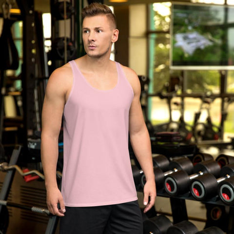 Light Ballet Pink Solid Color Premium Unisex Men's or Women's Tank Top-Made in USA-Men's Tank Top-Heidi Kimura Art LLC Light Ballet Pink Tank Top, Light Ballet Pink Solid Color Print Stylish Premium Quality Gay Friendly Men's or Women's Unisex Tank Top - Made in USA/ Europe (US Size: XS-2XL)