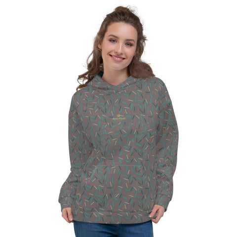 Gray Birthday Sprinkle Print Women's Unisex Hoodie Sweatshirt Pullover Top- Made in EU-Women's Hoodie-XS-Heidi Kimura Art LLC