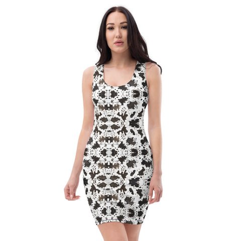 Cow Print Women's Dress, Animal Print Long Sleeveless Dress-Made in USA/EU-Heidi Kimura Art LLC-Heidi Kimura Art LLC Cow Print Women's Dress, Animal Print Long Wild Sexy Cow Print Women's Designer Sleeveless Best Dress, Designer Bestselling Premium Quality Women's Sleeveless Dress-Made in USA (US Size: XS-XL)