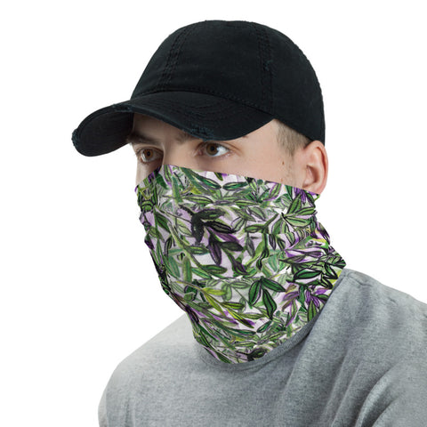 Green Tropical Leaf Face Masks, Tropical Exotic Palm Leaf Print Outdoor Anti-Dust Face Mask Shield, Luxury Premium Quality Cool And Cute One-Size Reusable Washable Scarf Headband Bandana - Made in USA/EU, Face Neck Warmers, Non-Medical Breathable Face Covers, Neck Gaiters, Face Mouth Cloth Coverings, Ear Warmer Headband, Winter Face Masks, Clothing Sports & Outdoors Face Scarf