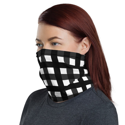 Black Buffalo Face Mask Coverings, Luxury Premium Quality Cool And Cute One-Size Reusable Washable Scarf Headband Bandana - Made in USA/EU, Face Neck Warmers, Non-Medical Breathable Face Covers, Neck Gaiters, Non-Medical Face Coverings