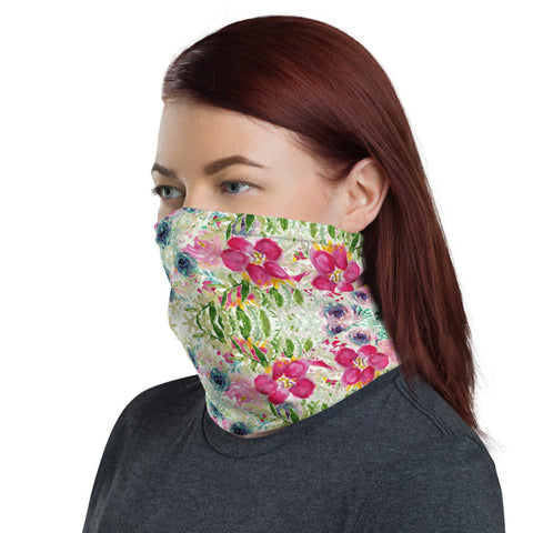 Floral Rose Face Masks, Floral Print Face Mask Shield, Luxury Premium Quality Cool And Cute One-Size Reusable Washable Scarf Headband Bandana - Made in USA/EU, Face Neck Warmers, Non-Medical Breathable Face Covers, Neck Gaiters, Face Mouth Cloth Coverings, Ear Warmer Headband, Winter Face Masks, Clothing Sports & Outdoors Face Scarf
