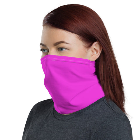 Neon Pink Face Mask Shield, Luxury Premium Quality Cool And Cute One-Size Reusable Washable Scarf Headband Bandana - Made in USA/EU