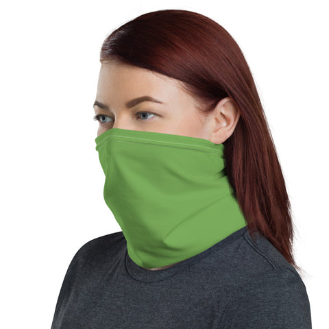 Apple Green Face Mask Shield, Cute One-Size Reusable Washable Scarf Headband Bandana-Made in USA/EU   Apple Green Face Mask Shield, Luxury Premium Quality Cool And Cute One-Size Reusable Washable Scarf Headband Bandana - Made in USA/EU, Face Neck Warmers, Non-Medical Breathable Face Covers, Neck Gaiters