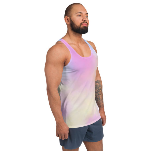 Cotton Candy Pink Unisex Tank Top, Sexy Gay Pride Stretchy Modern Best Premium Unisex Men's/ Women's Stylish Premium Quality Men's Unisex Tank Top - Made in USA/ Europe (US Size: XS-2XL)