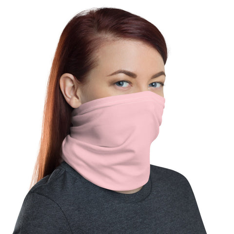 Light Pink Face Mask Shield, Luxury Premium Quality Cool And Cute One-Size Reusable Washable Scarf Headband Bandana - Made in USA/EU, Winter Accessory For Dust/ Wind, Wilderness Face Scarf Winter, Face Warmer
