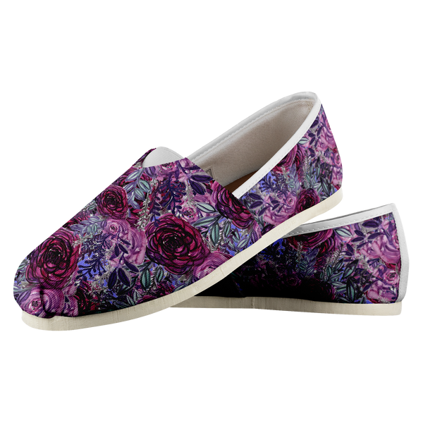 Miki Violet Purple Rose Floral Women's Casual Slip on Sneakers Shoes (US Size: 4.5-14)Purple Shoes,Floral Shoes,Purple Flower Shoes,LoafersWomen's Comfy Flats Casual Shoes, Slip Ons,Floral Print Shoes,Floral Femme,Vintage Floral Miki Violet Purple Rose Floral Women's Casual Slip on Sneakers Shoes (US Size: 4.5-14)Women's Comfy Flats Casual Shoes