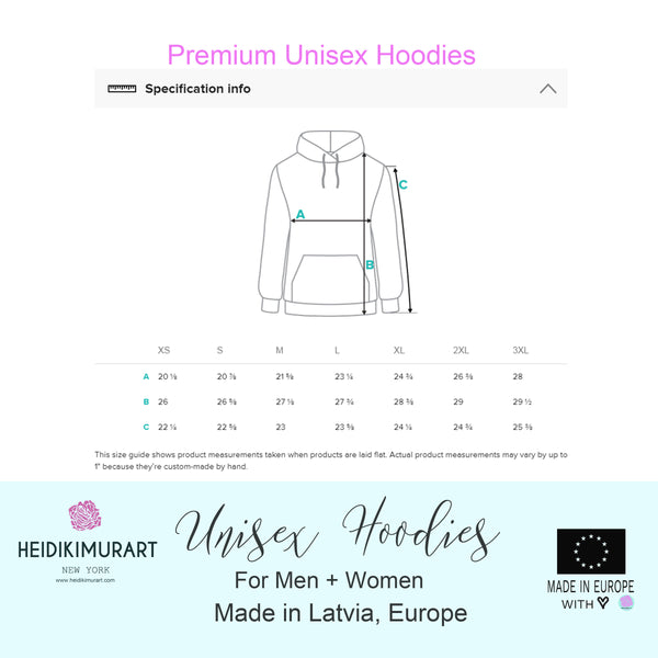 Christmas Women's Hoodies, White Green Winter Floral Print Unisex Hoodie- Made in EU-Women's Hoodie-Printful-Heidi Kimura Art LLC