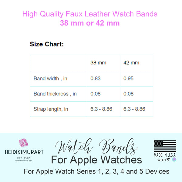 Purple Pink Cats Print 38mm/42mm Premium Watch Band For Apple Watch- Made in USA-Watch Band-Heidi Kimura Art LLC