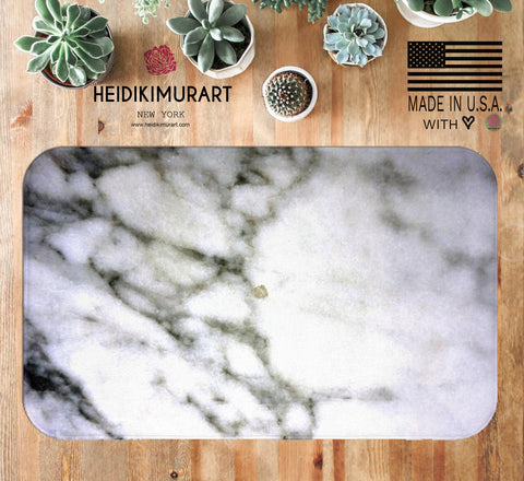 "Abstract White Marble Texture Print Premium 34""x21"", 24""x17"" Microfiber Bathroom Mat,Made in USA,Marble Bath Mat,Marble Rug,White Bath Rug ,Kids Bath Mat,Bath Decor,Anti Slip Bath Mat Abstract White Marble Texture Print Premium 34""x21"", 24""x17"" Microfiber Bath Mat"