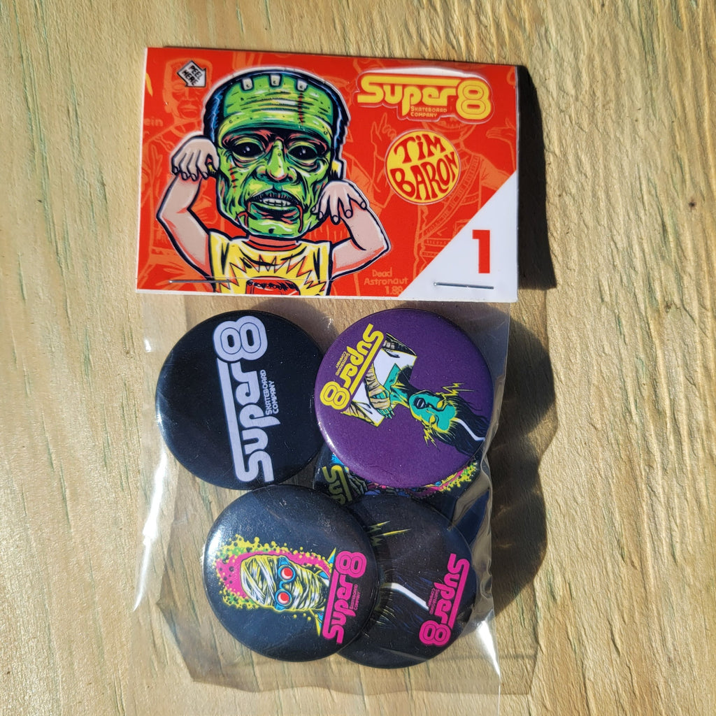 Premium Button Pack Vol. 1 - Super 8 Skateboard Company