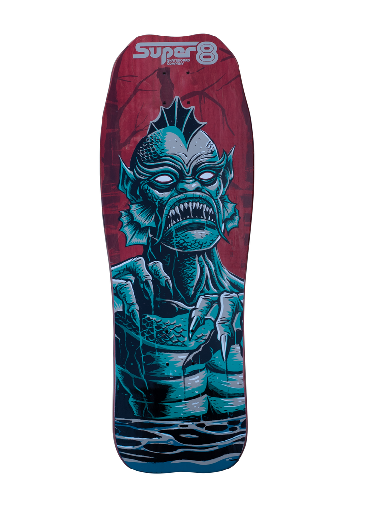 Gillman Devilfish Shape - Screen Printed by Cat Palace - Super 8 Skateboard Company
