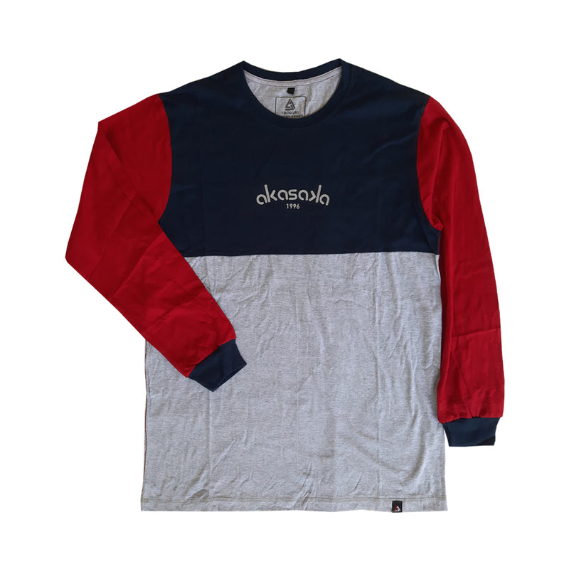 TRIVERT LS TEE RED SLEEVE