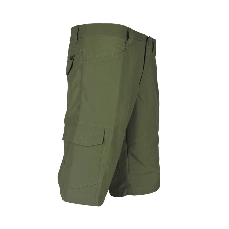 Blacklava Short Army Green Tampak Kanan