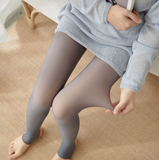 COGGINGS ™ Faux Collants / Leggings d'Hiver Translucides en Laine Polaire Gris / 80 g (de 10°C à 25°C) / Collant Complet - Shebuel