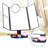 MIRROLED ™ Miroir Lumineux & Tactile de Maquillage 4 en 1 à LED - Shebuel