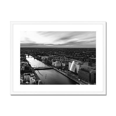 Samuel Beckett Bridge and City - B&W - Stunning Ireland