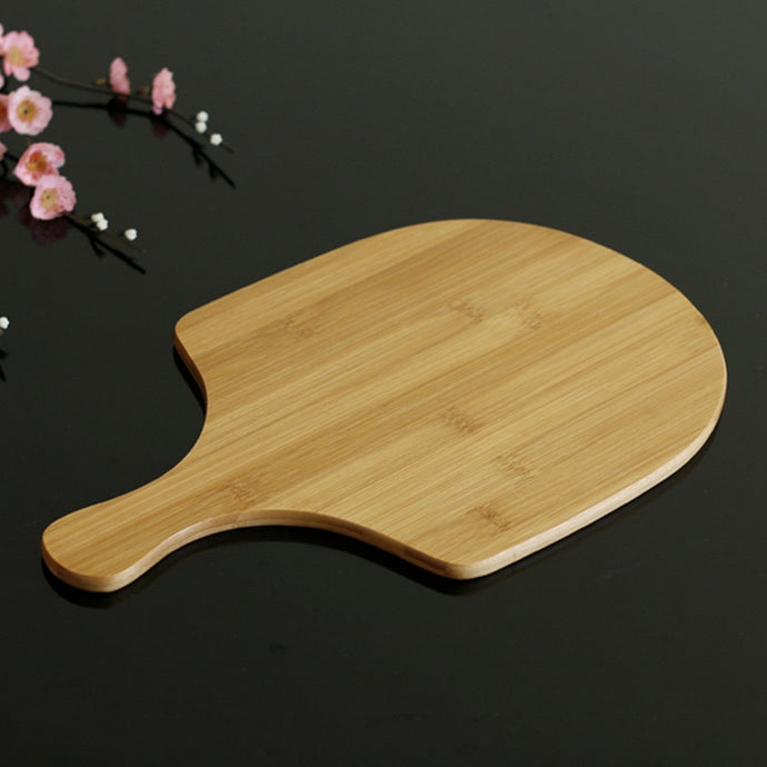 Bamboo Wooden Pizza Peel 10inch Baking Board Tools Serving Tray Cutting Board Sector Homemade Pizza and Bread Plate Cheese Board