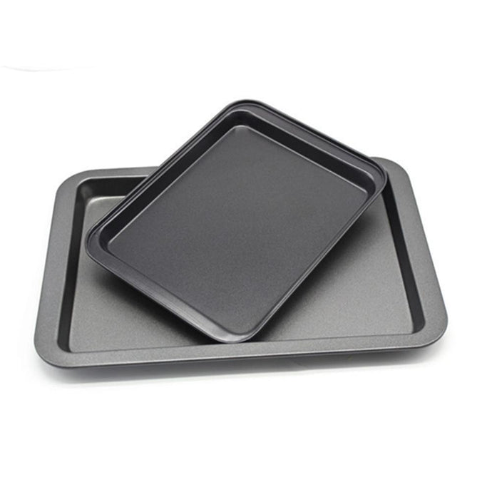 Adeeing Square Baking Sheet Homemade Cooking Bakeware Non-Stick Coating Cake Pizza Bread Making Plate Pan Ovenware