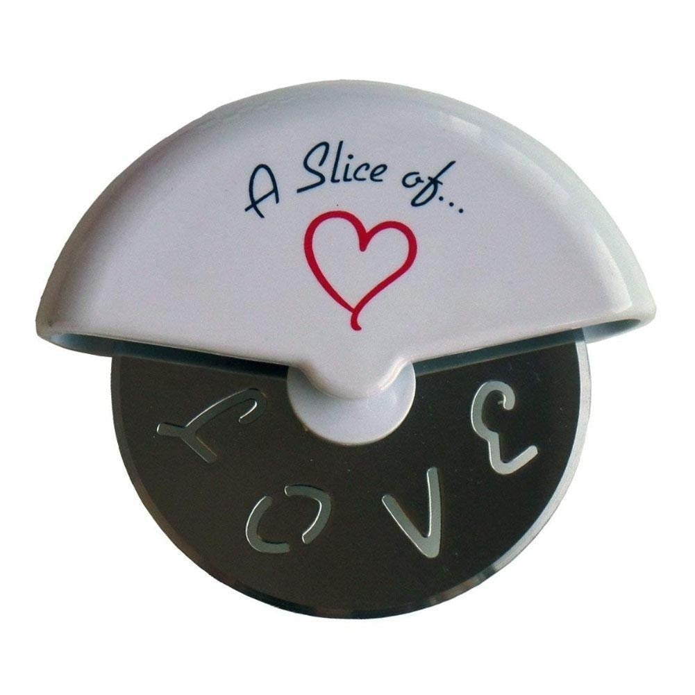 A Slice Of Love Stainless Steel Pizza Cutter Wheel Wedding Gifts Favors Pizza Knife Roll Favor  Wedding Gift