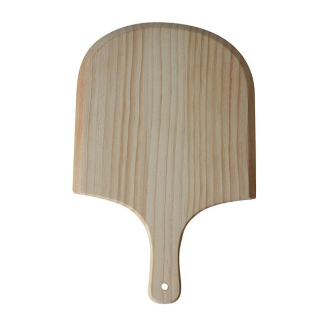 14 Inch/12 Inch Natural Wooden Pizza Peel Charcuterie Board Pizza Spatula Paddle for Baking Homemade Pizza and Bread