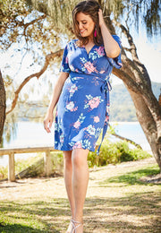 Summer wrap dress for plus size women